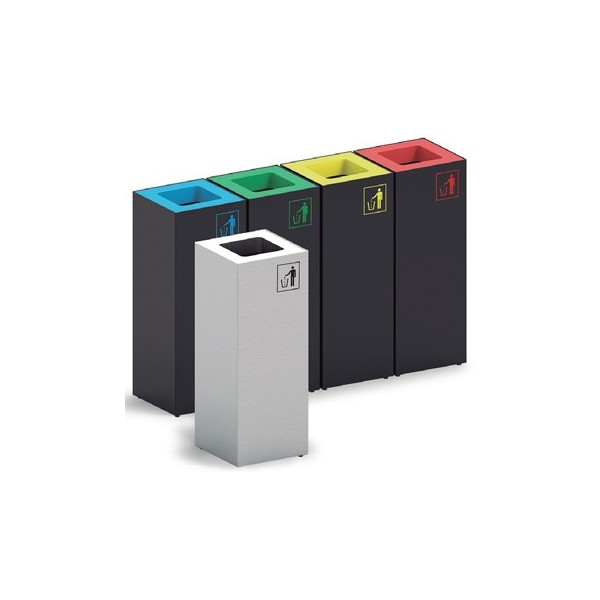 Papelera cúbic reciclaje