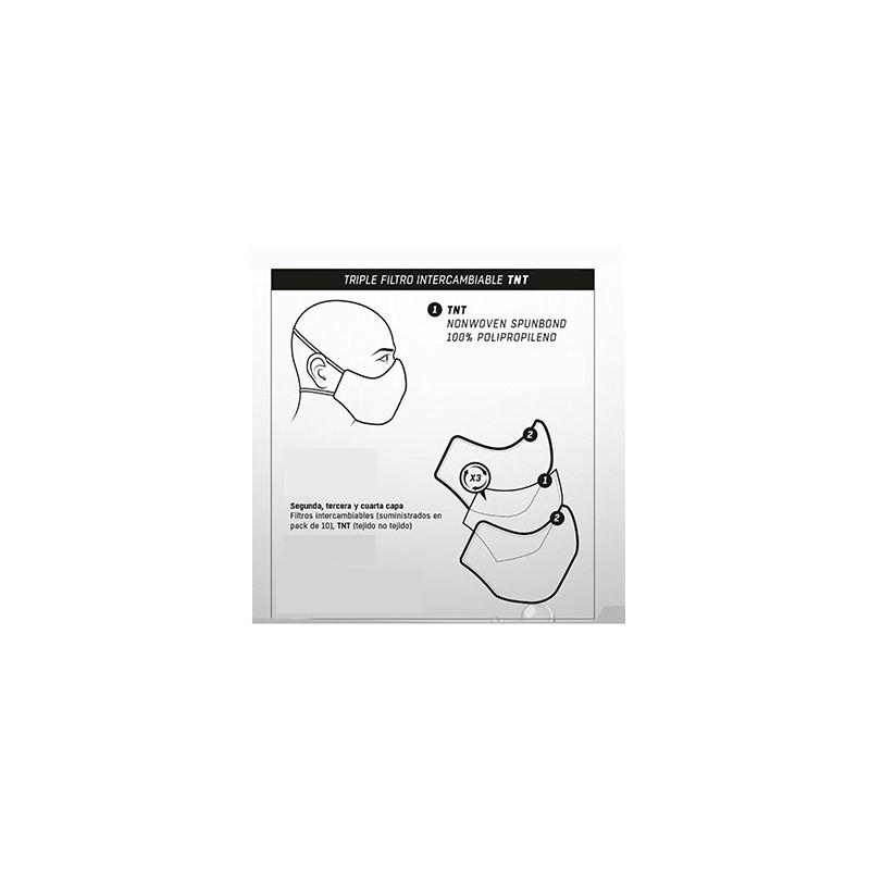 Pack 10u filtro para mascara prevencion