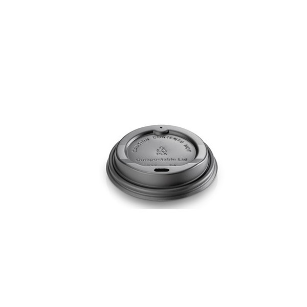 TAPA NEGRA VASO 4 OZ (DIAM.62MM) CAFÉ