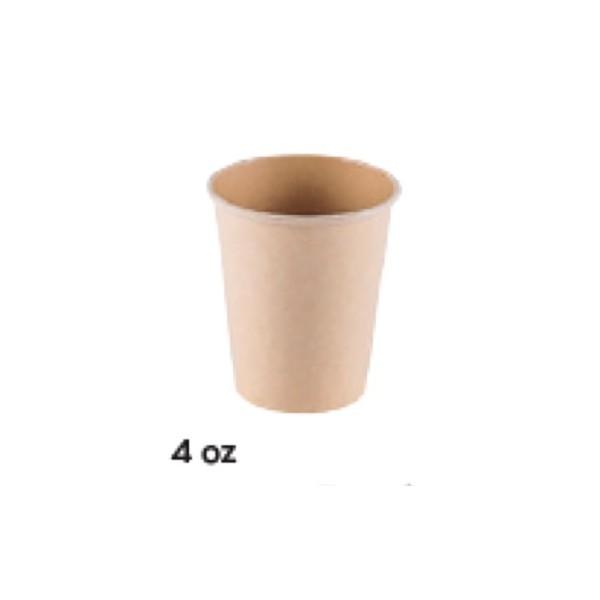 VASO CARTÓN KRAFT 4 OZ CAFÉ