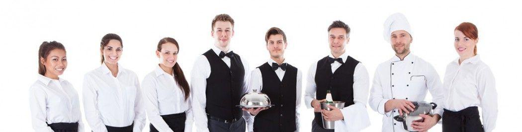 camareros con uniforme tottreball
